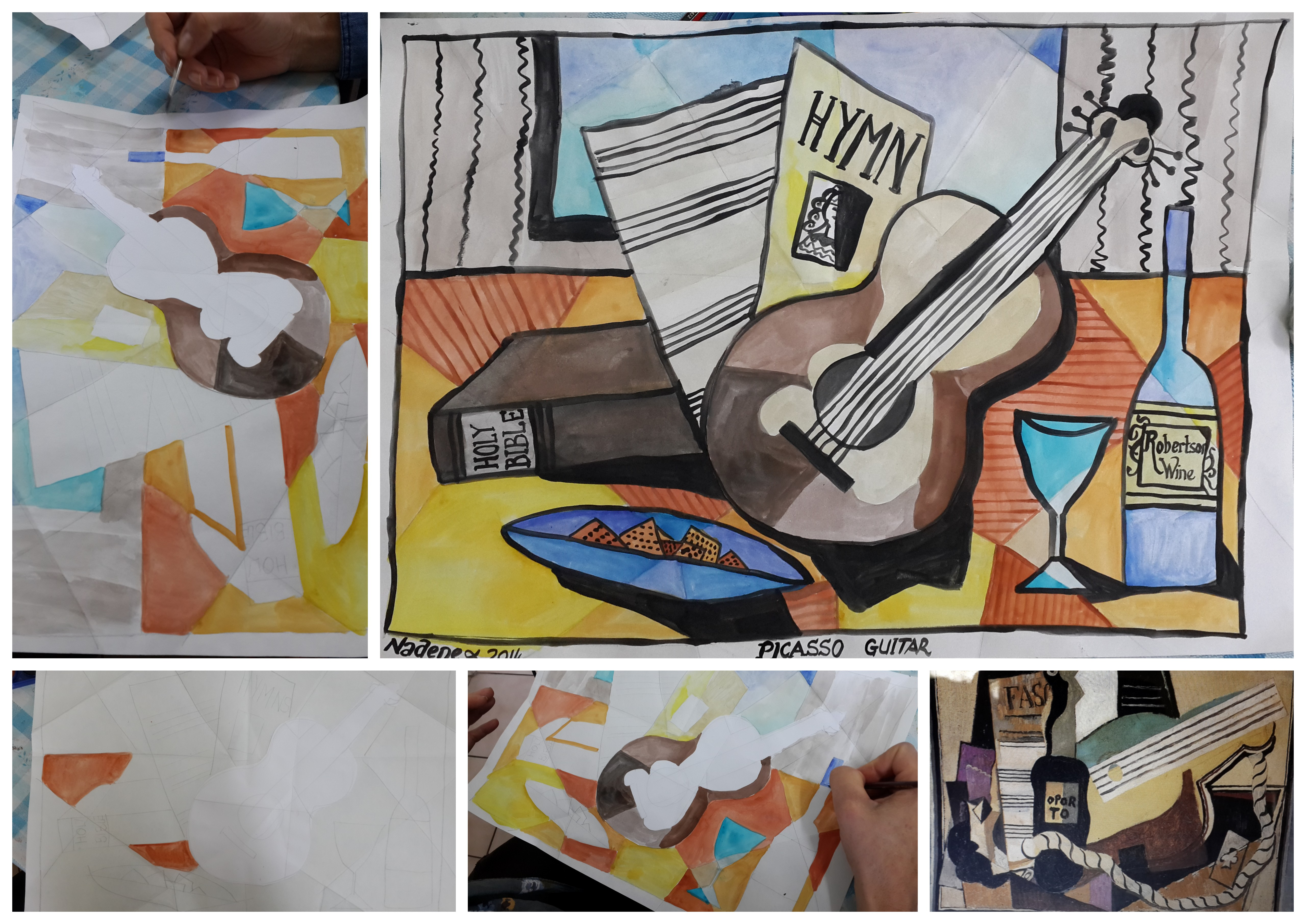 Sketch Tuesday Picasso Guitars