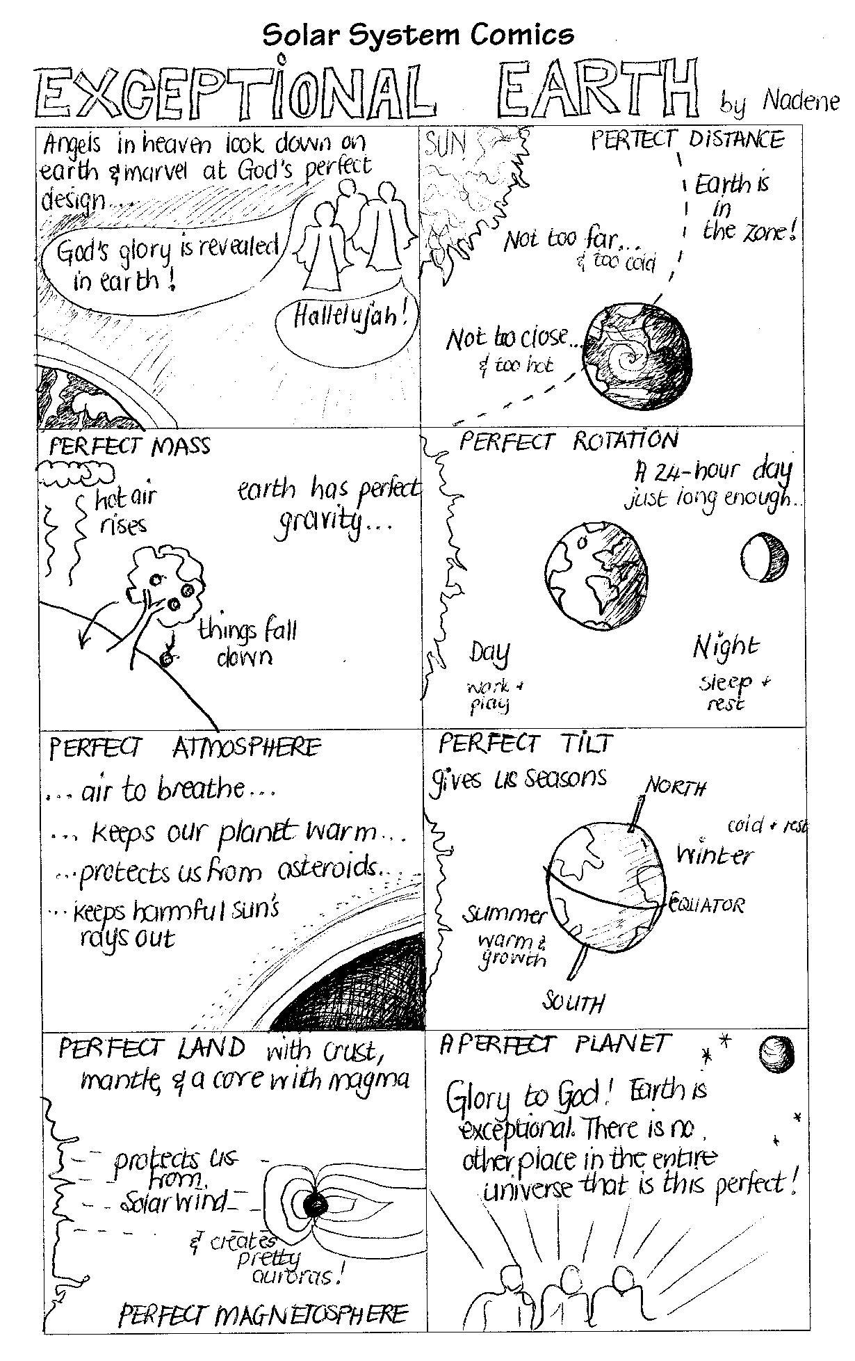 Solar System Comics Earth Amp Mars