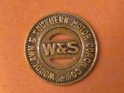 Aliquippa, Pennsylvania Woodlawn /& Southern Motor Coach PA10E transit token