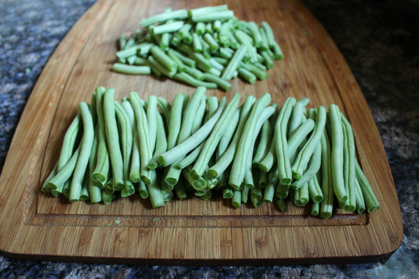 Green Beans Chopped for Canning