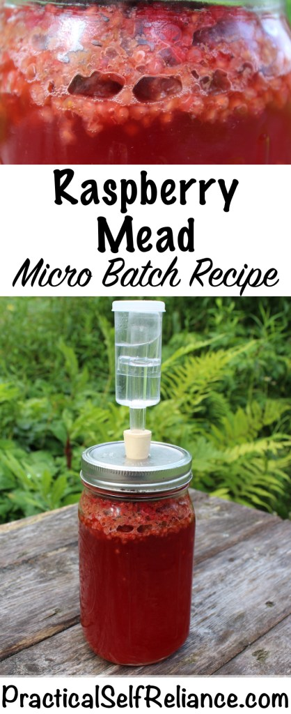 Raspberry Mead- Micro Batch Recipe #raspberries #raspberryrecipe #mead #meadrecipe #homebrew #honeywine #fermentation #fermenteddrinks