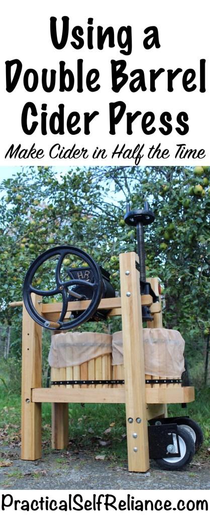 Using a Double Barrel Cider Press