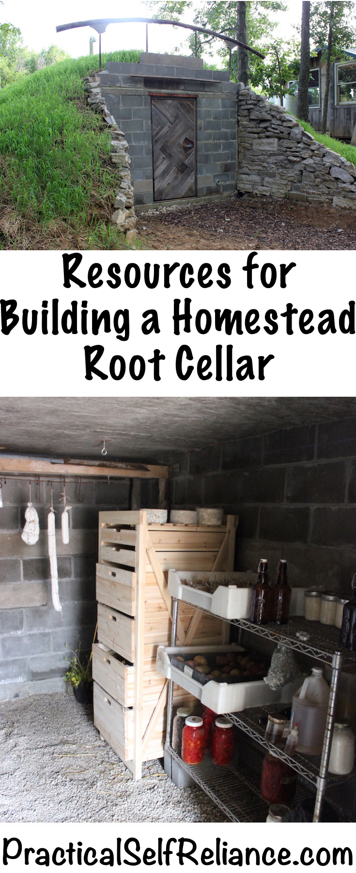 Resources for Building a Homestead Root Cellar - Practical Self Reliance #rootcellar #foodstorage #preservingfood #foodpreservation #homestead #homesteading #selfsufficiency #selfreliant #preparedness #bookrecommendations