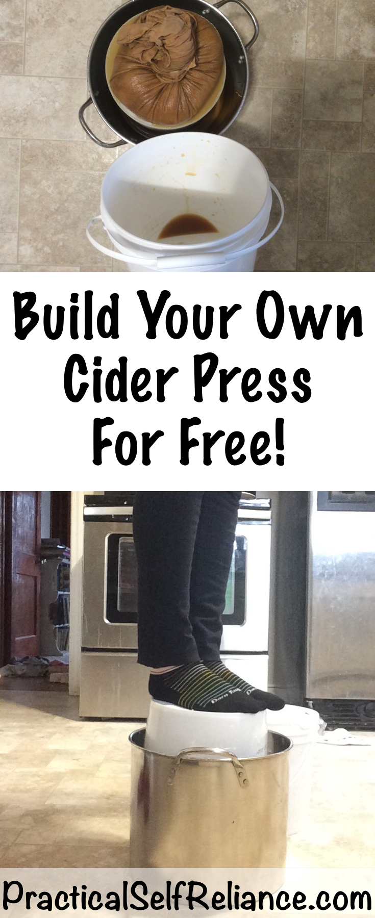 Build Your Own DIY Cider Press for Free #apples #applecider #appleciderpress #homestead #homesteading #selfsufficiency #selfreliant #preparedness