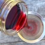 Filtering Homemade Blackcurrant Liqueur ~ Cassis