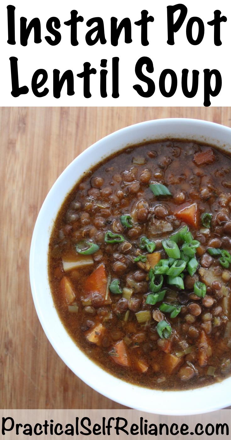 Instant Pot Lentil Soup Recipe #lentilsoup #lentils #souprecipes #instantpot #instantpotrecipes #instantpotrecipe #pressurecookerrecipes