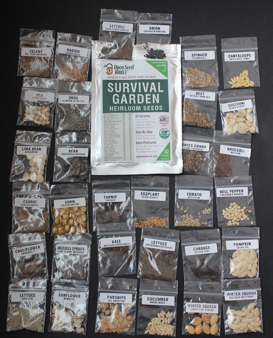 Open Seed Vault Survival Garden