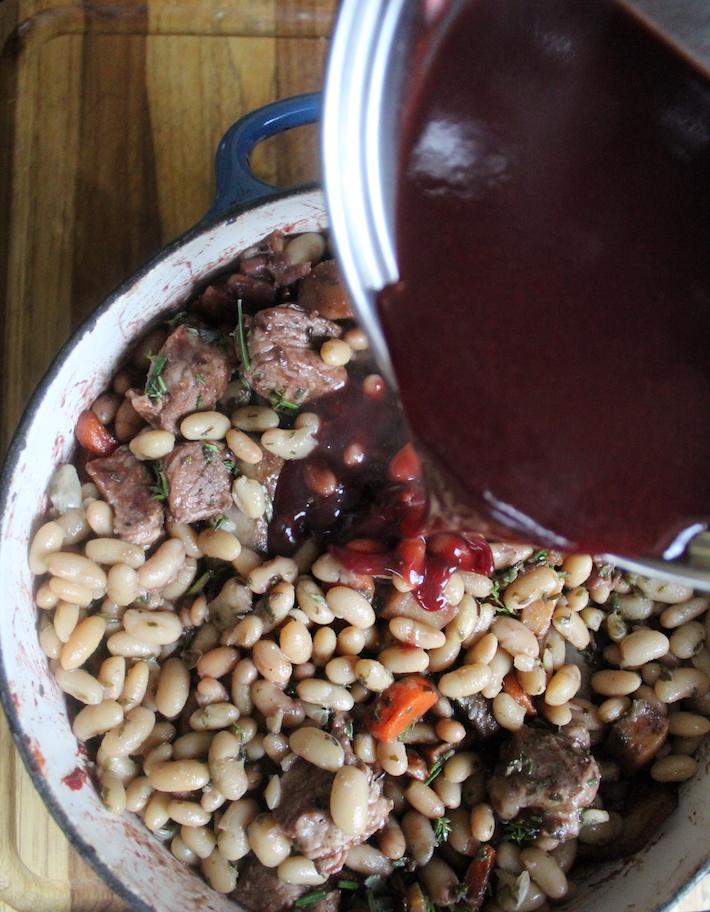 Adding Cassoulet Gravy