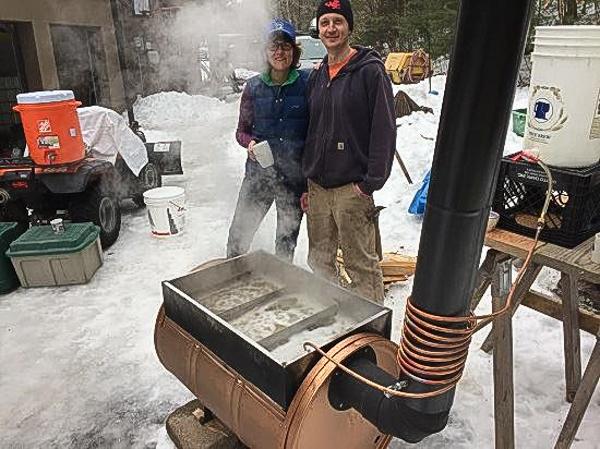 Sapling evaporator for sugar making