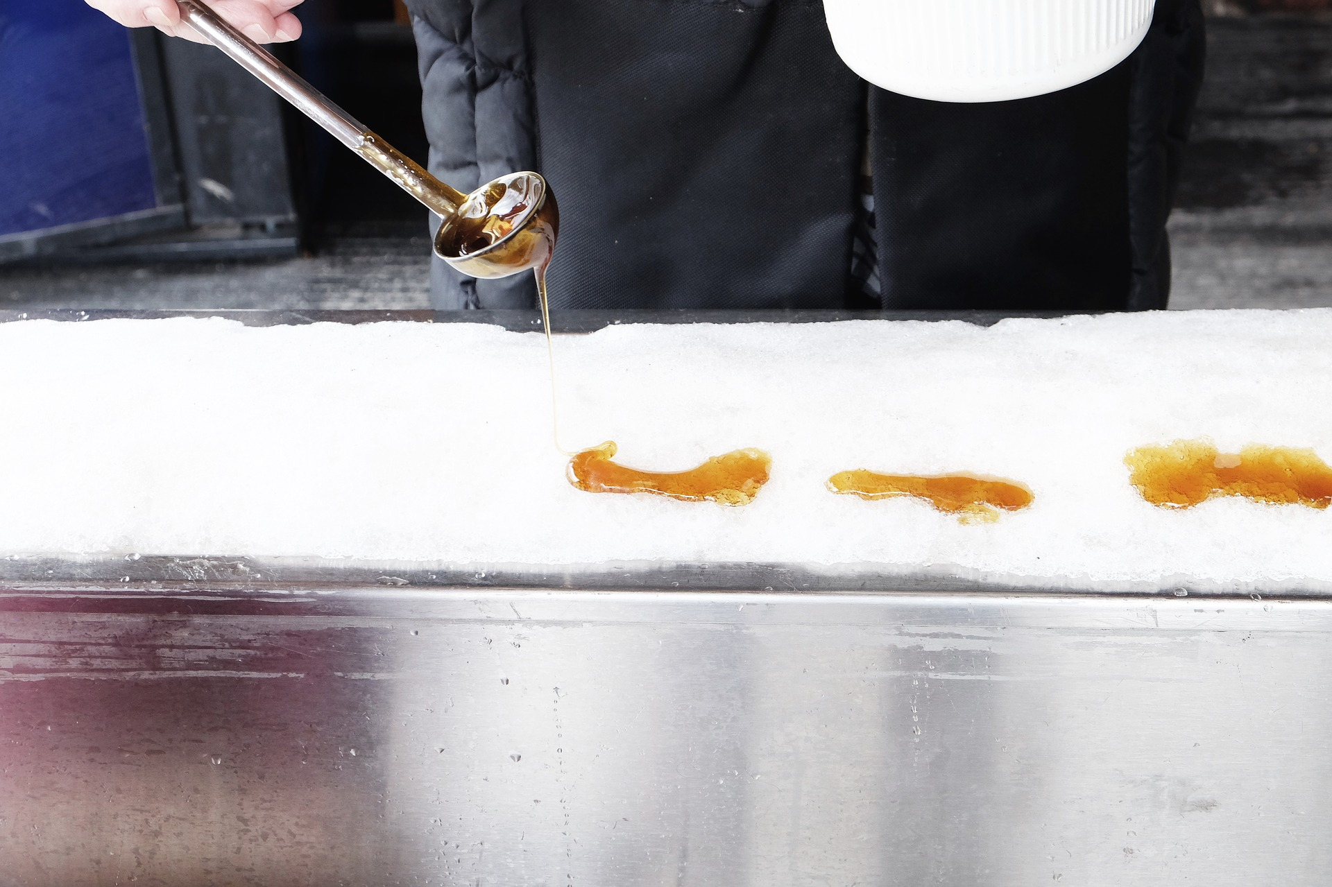 Sugar on Snow with Maple Syrup