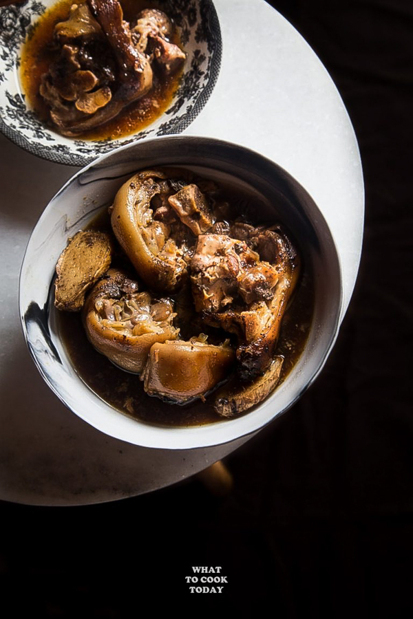 Sweet Black Vinegar Ginger Pig Trotter from What to Cook Today
