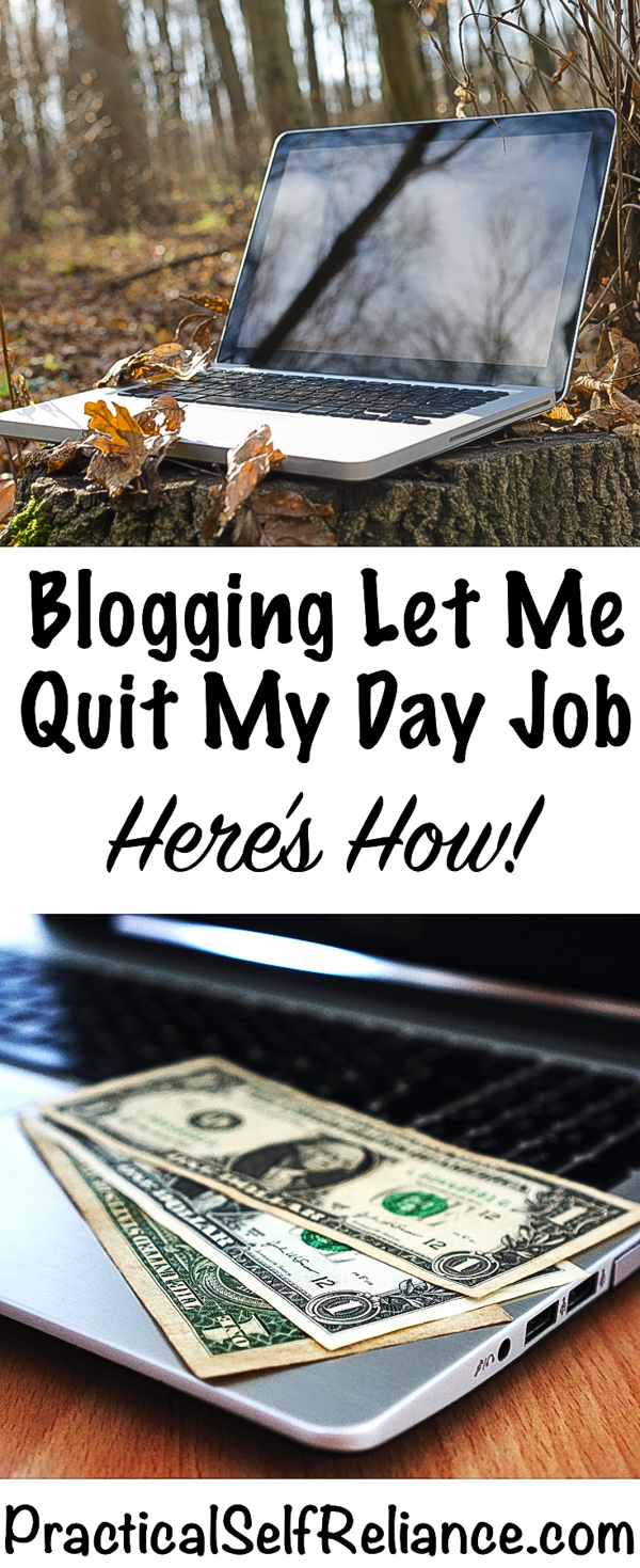 How Blogging Let Me Quit My Day Job #bloggingincome #homesteadincome #onlinebusiness #workfromhome #startablog