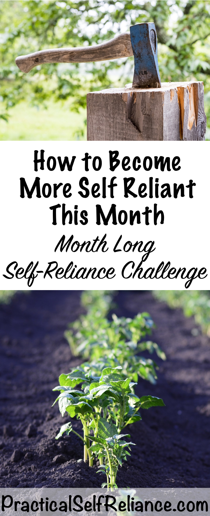 How to Become More Self Reliant This Month ~ Month Long Self Reliance Challenge