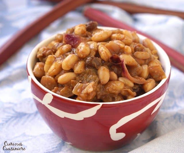 Rhubarb Baked Beans
