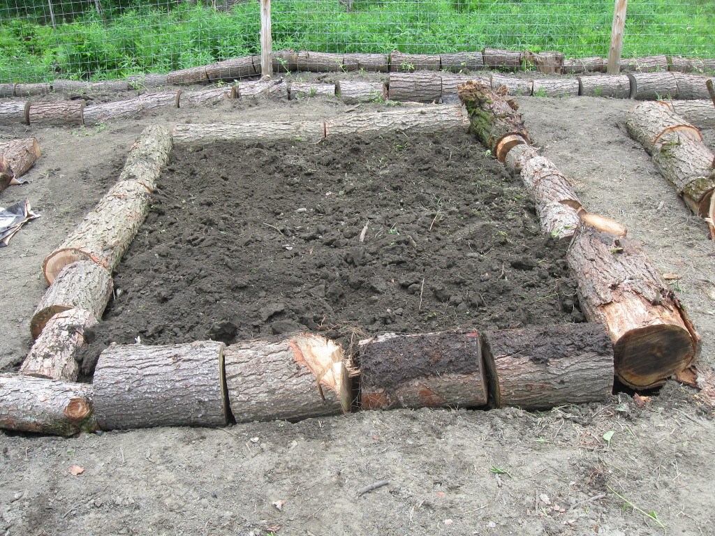 Cordwood Raised Beds