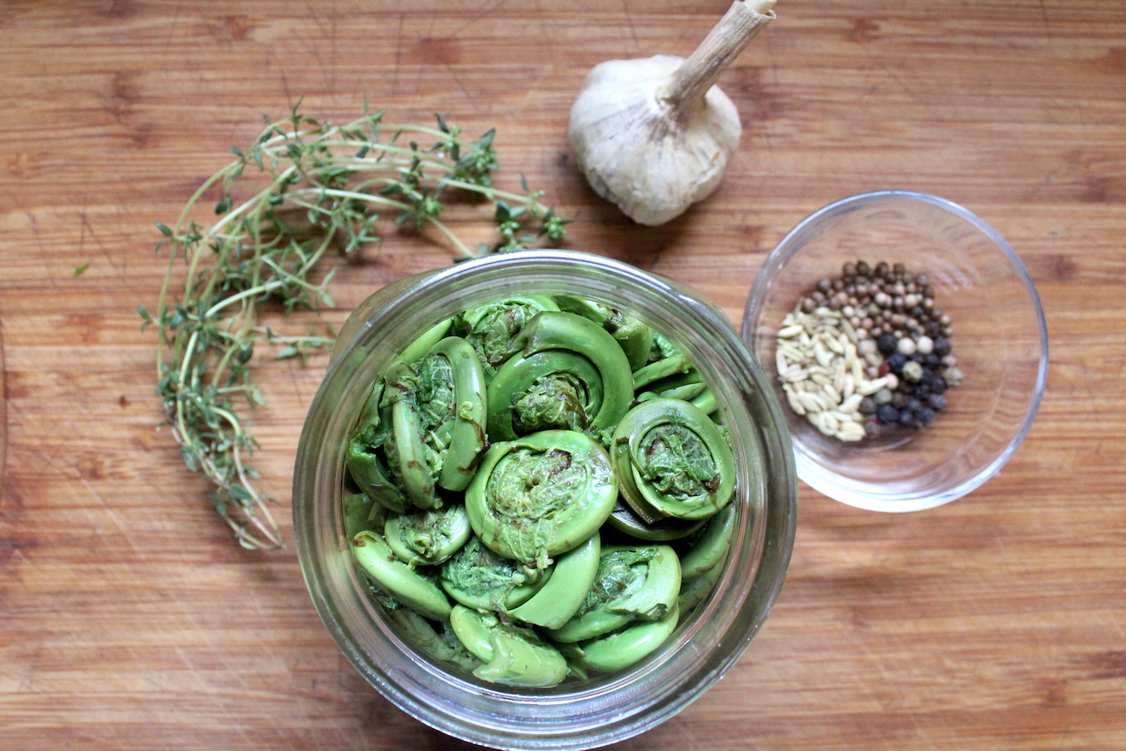 Pickled Fiddleheads Ingredients