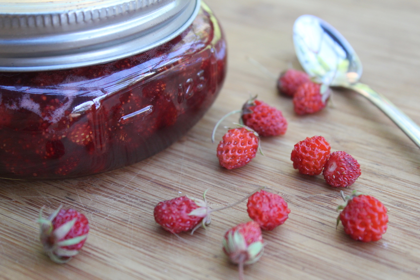 Canning Wild Strawberry Jam