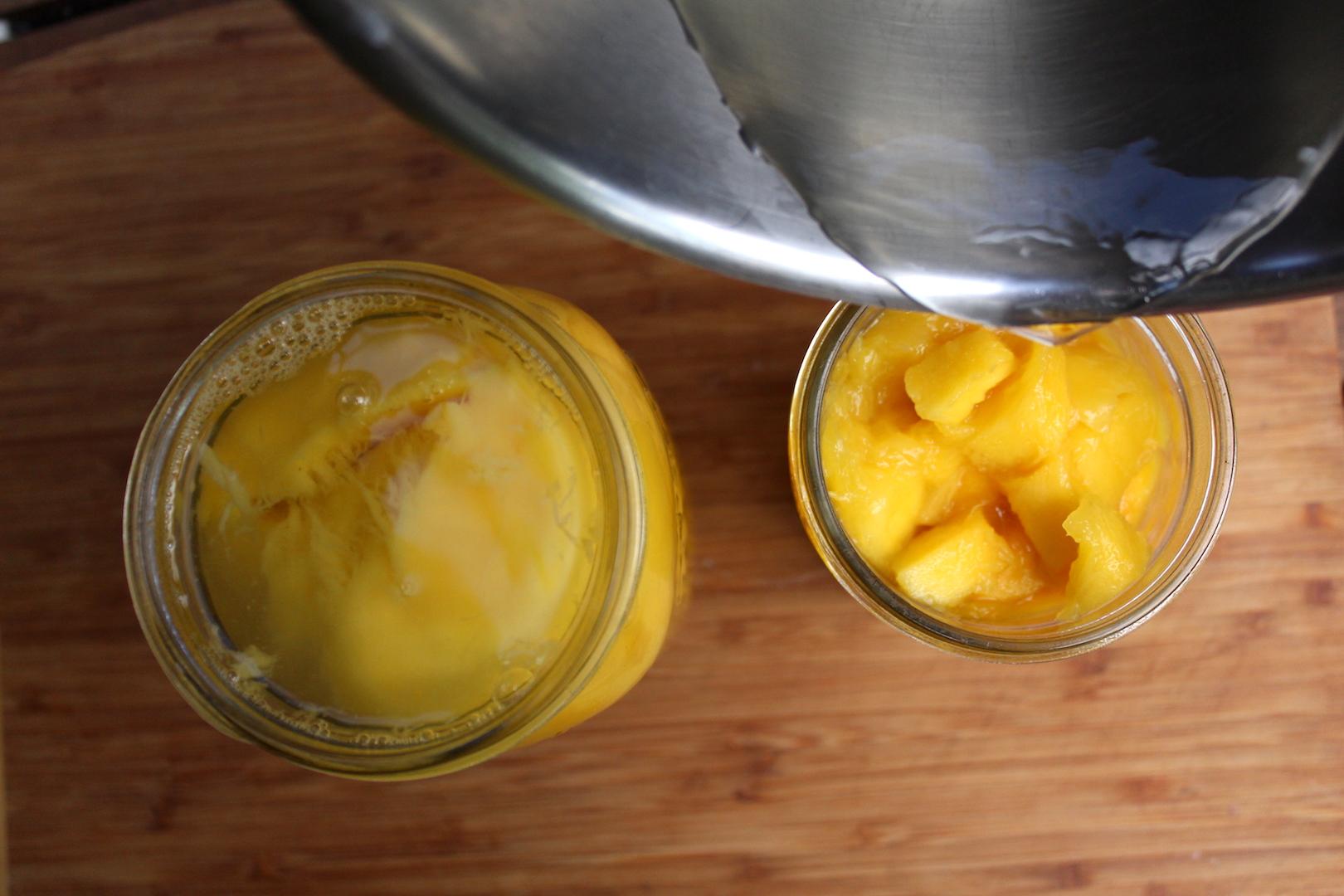 Adding Syrup to Mango