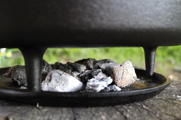 Coals Under Dutch Oven