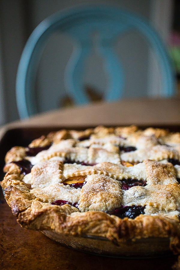 Peach Blueberry Pie from Smells Like Home