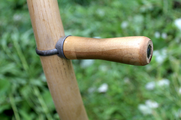 Adjustable Scythe Handle on an American Style Snath
