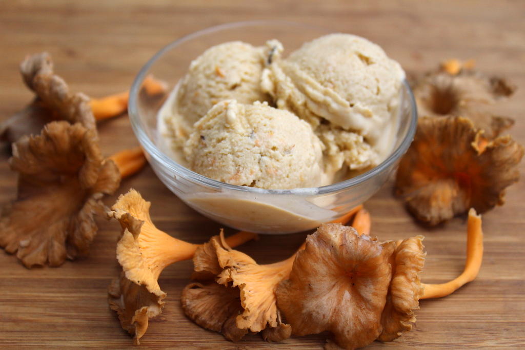 Homemade Chanterelle Ice Cream