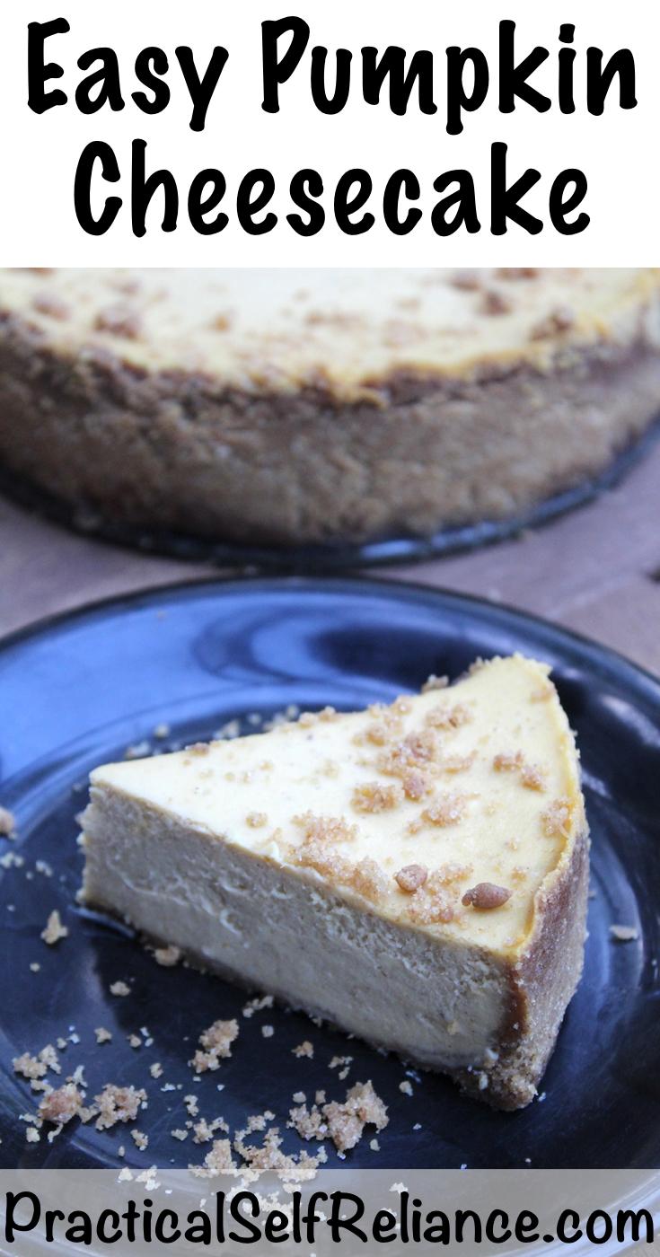 Easy Pumpkin Cheesecake Recipe #pumpkin #recipes #pumpkinrecipes #cheesecake #cheesecakerecipes #food #fallrecipes #dessert