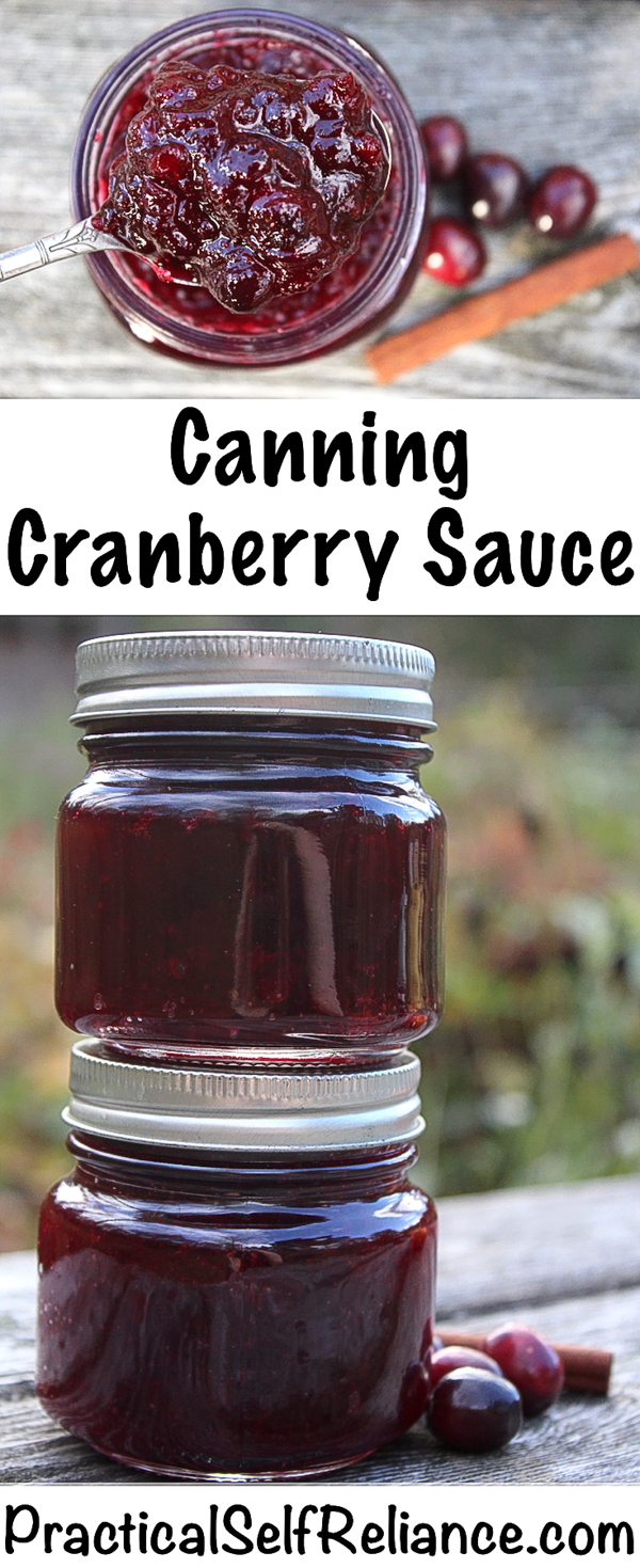 Canning Cranberry Sauce #cranberry #recipes #cranberrysauce #thanksgiving #holidayrecipes #canning #foodpreservation #homesteading #selfsufficiency