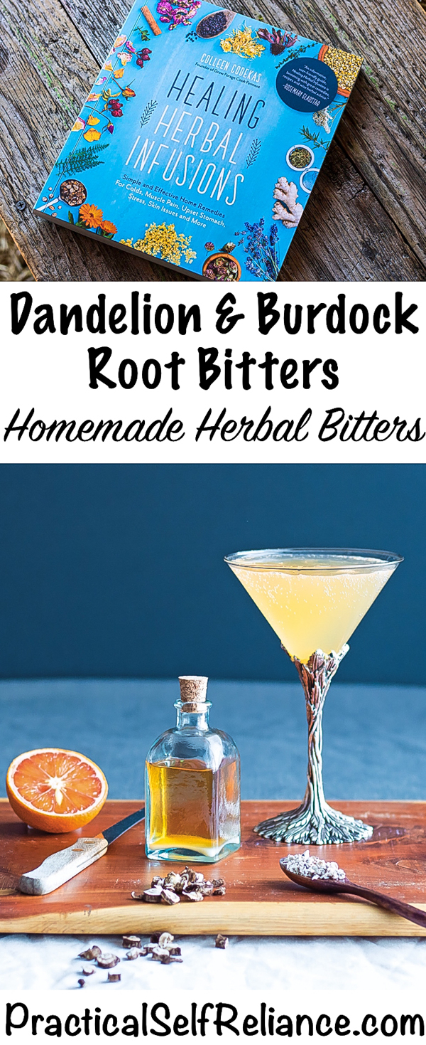 Dandelion and Burdock Herbal Bitters #dandelion #recipes #bitters #herbalism #medicine #digestivebitters #digestion #burdock