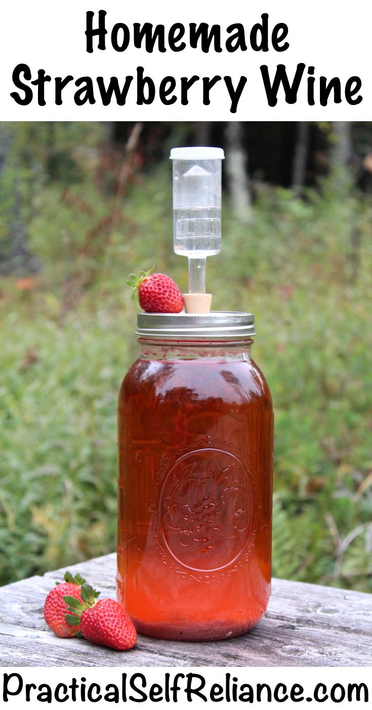 Homemade Strawberry Wine Recipe #strawberries #strawberryrecipe #recipe #fermenting #winemaking #brewing #homebrewing #homebrew #beverages #homemade #fermented #fermenteddrink #wine #winerecipe