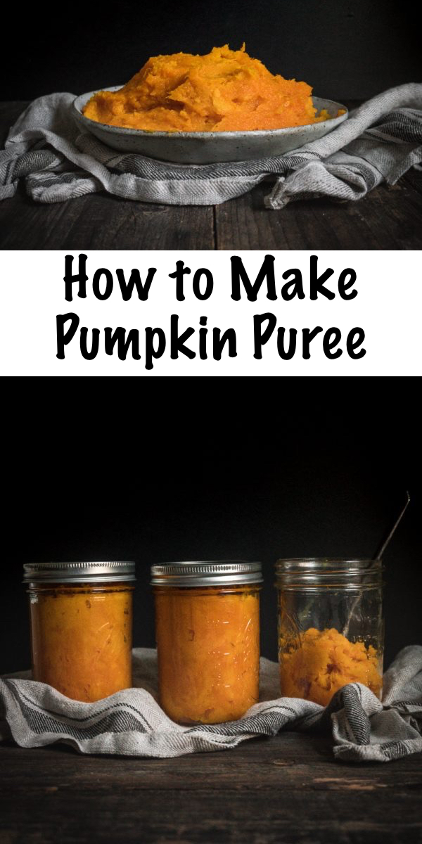 How to Make Pumpkin Puree ~ Skip the grocery-store can and instead make your own homemade pumpkin puree. Perfect for all your fall baking projects or preserving your pumpkin harvest. #pumpkin #puree #recipes #howtomake #squash #homemade #forpie #easy