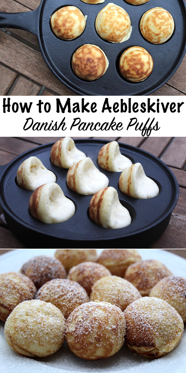 How to Make Aebleskiver ~ Danish Pancake Puffs #Aebleskiver #recipes #desserts #traditionalfood #danish #puffpancakes #breakfast #brunch
