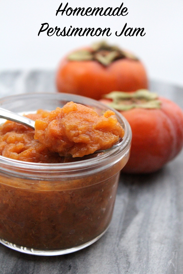 Homemade Persimmon Jam Recipe for Canning #persimmon #recipe #persimmonrecipes #uses #canning #foodpreservation #homesteading