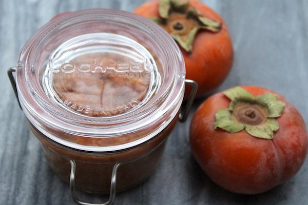 Persimmon Jam in Luigi Bormioli Lockeat Jar