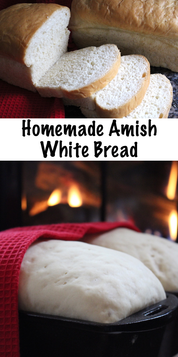 Homemade Amish White Bread ~ Easy soft sandwich bread that kids love! Soft crust white bread is easy to make with a few tricks from the Amish. This enriched sandwich bread is soft and buttery, and easy to make at home.