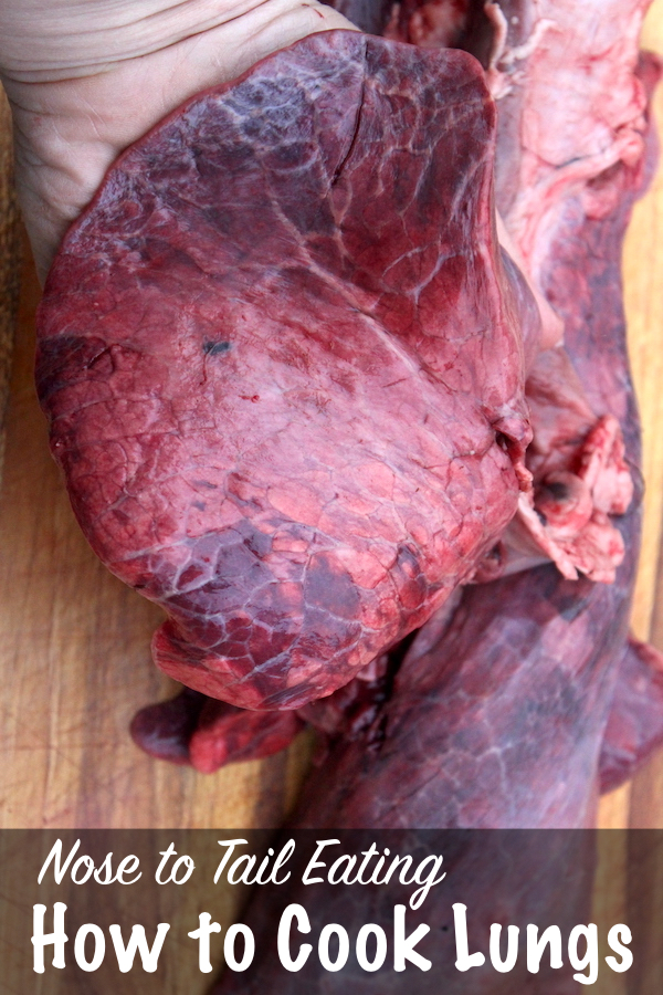 How to Cook Lungs for Nose to Tail Eating ~ How to prepare offal cuts for the best flavor, even animal lungs.