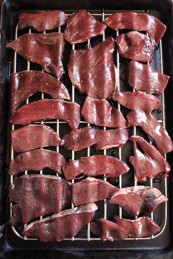 Deer Heart Slices for Jerky