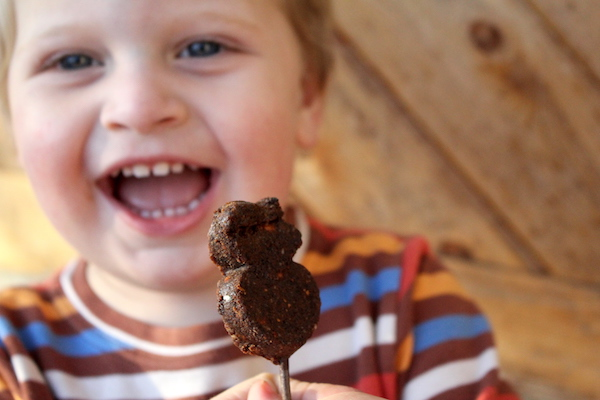 Child Eating Pemmican Lollipop