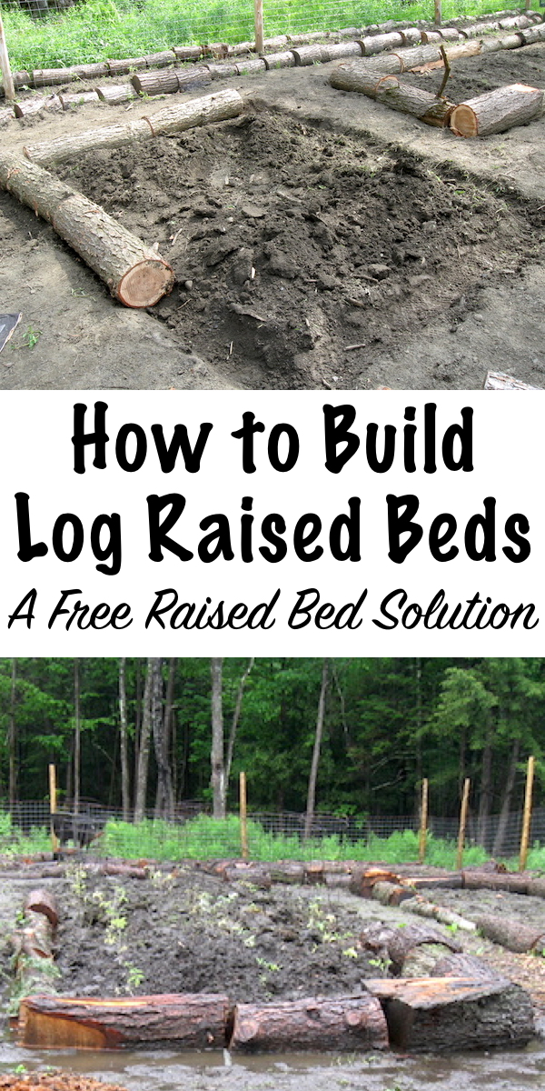 Log Raised Beds are an inexpensive raised bed solution with a lot of benefits for the soil ecology.