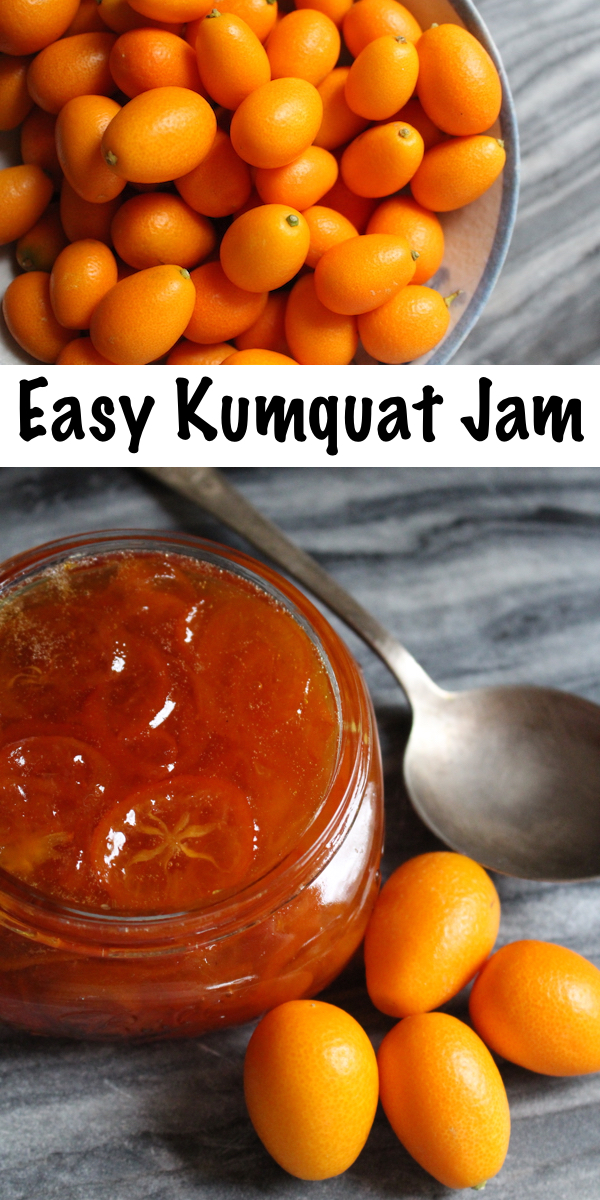Easy homemade kumquat jam ~ The perfect way to enjoy an otherwise tart fruit in a homemade preserve ~ Call it kumquat jam or kumquat marmalade, either way it's delicious. #kumquat #recipe #howtoeat #jam #jamrecipe #foodpreservation #canning #homesteading