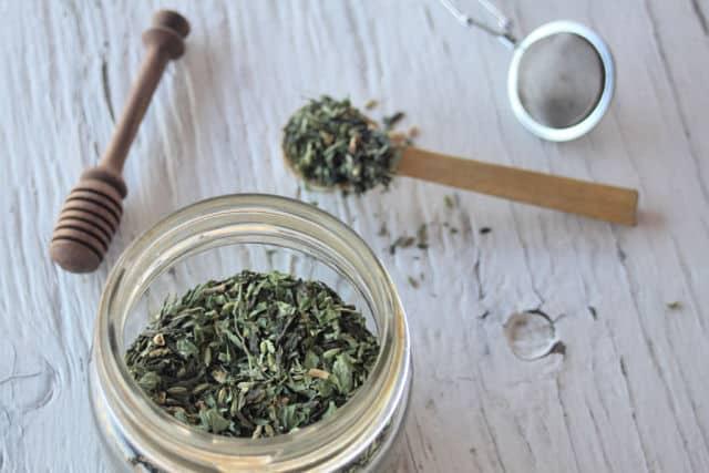 Ginger Lemon Balm Green Tea from Homespun Seasonal Living