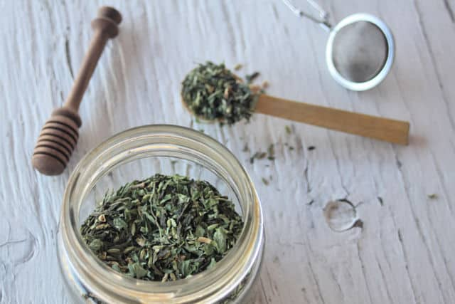 Ginger Lemon Balm Green Tea from Homespun Seasonal Living