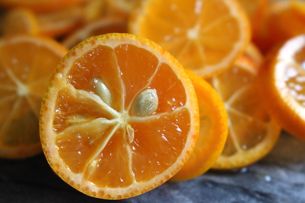 large kumquat seeds inside the fruit need to be removed for kumquat jam