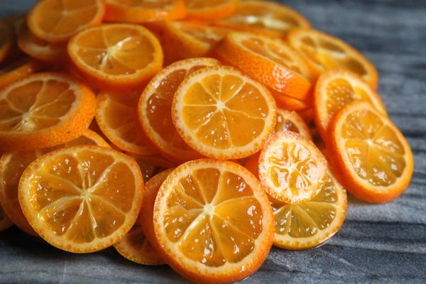 kumquat slices for kumquat jam