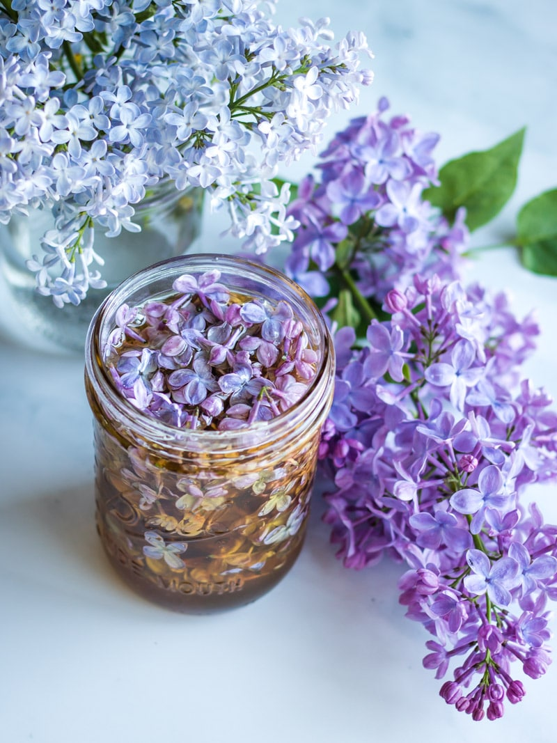 Lilac infused honey from Grow Forage Cook Ferment