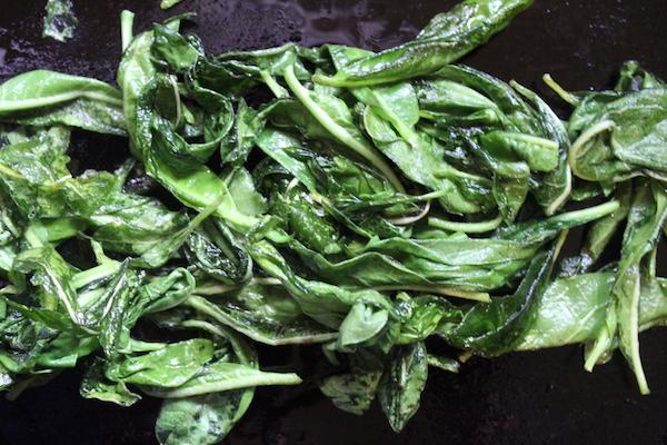 Cooking Milkweed Leaves