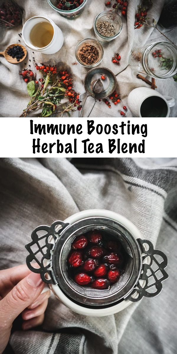 Homemade Immune Boosting Herbal Tea Blend ~ Don't wait until you have caught a bug to start feeling better. Lower your chances of getting sick and be ready to fight off colds with this herbal immunity-boosting tea blend! We all could use a bit of immune support, especially in the winter cold season. #herbal #herbaltea #fluseason #coldseason #herbs #herbalist #herbalism #medicine #coldandflu #naturalremedy #immuneboosting #immunity