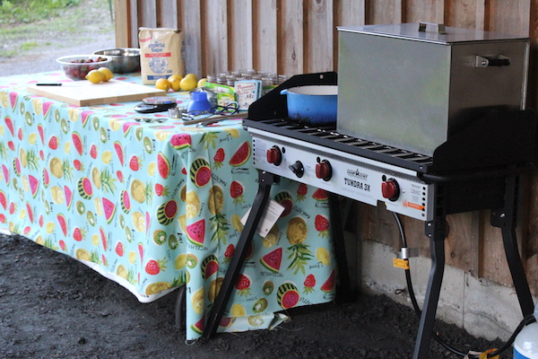 Our outdoor canning kitchen