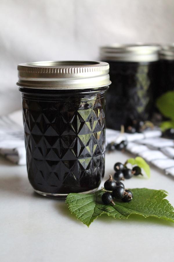 Homemade blackcurrant jelly
