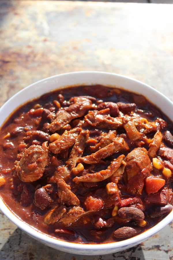 Slow cooker squirrel chili